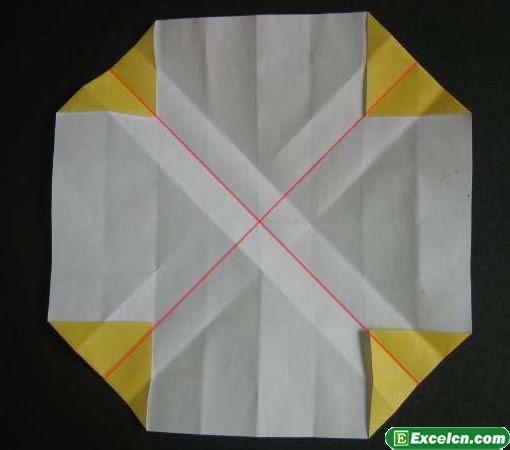 纸玫瑰的折法图解