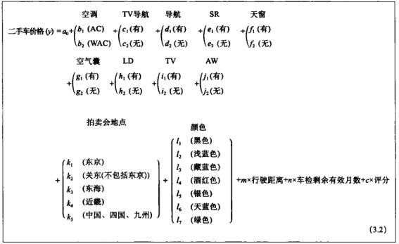 回归分析方程式