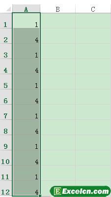 excel表格序号递增