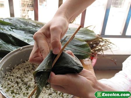 四角粽子的包法图解