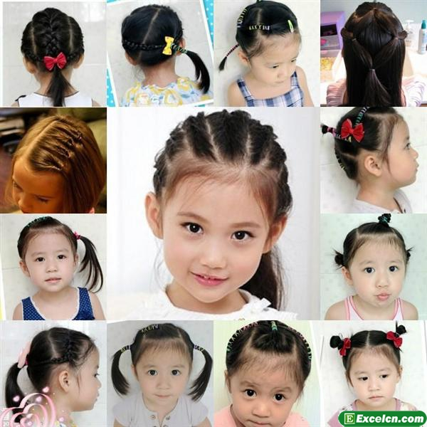 小孩子发型扎法_小女孩发型绑扎方法图解大全