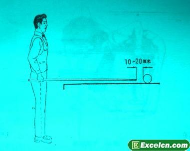 台球姿势图解-身体站立位置