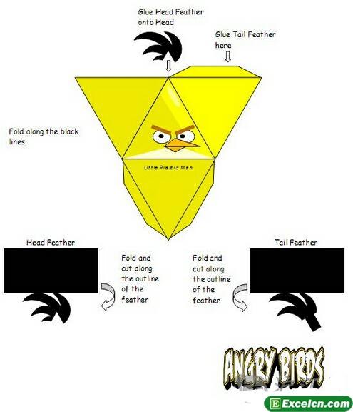 折纸愤怒的小鸟小黄鸟图解