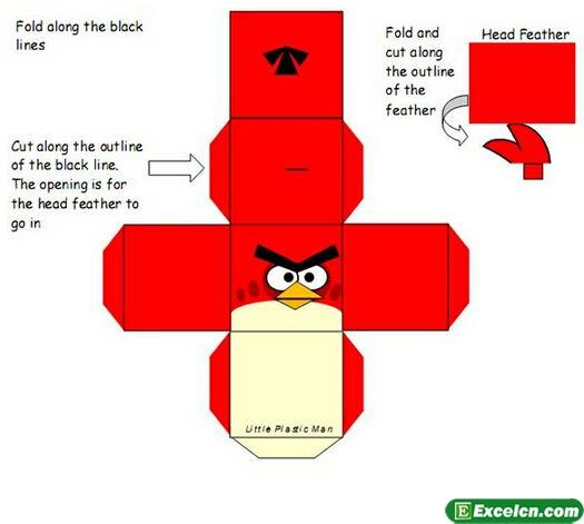 折纸愤怒的小鸟小红鸟图解