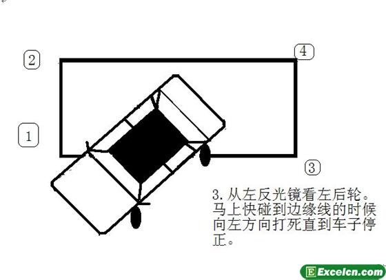 2013侧方位停车图解第三步