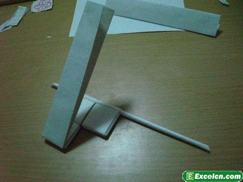纸枪的折法图解14