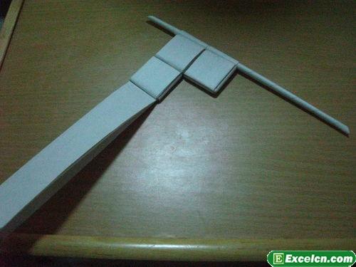 纸枪的折法图解13