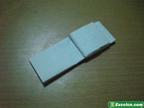 纸枪的折法图解7