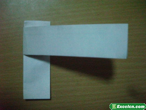 纸枪的折法图解5