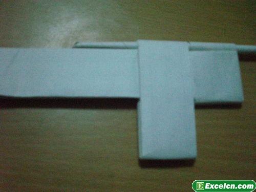 纸枪的折法图解17