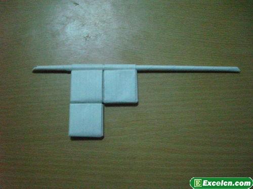 纸枪的折法图解12