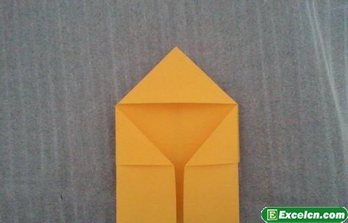 正方形心形折纸图解