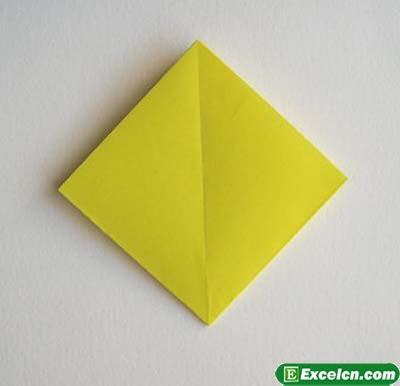 郁金香的折法图解