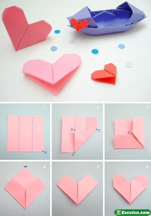 心形折纸大全图解