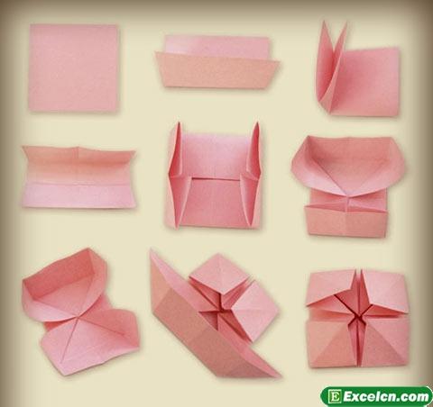 折纸花篮图解2
