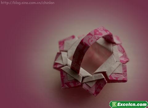 折纸花篮图解