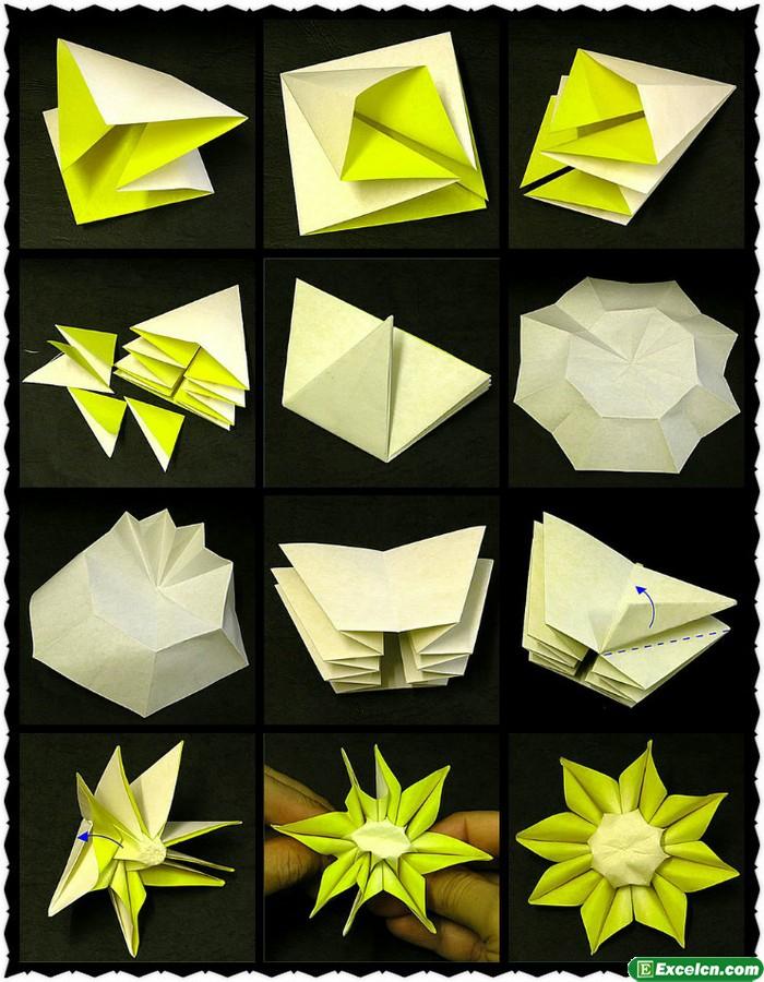 太阳花的折法图解