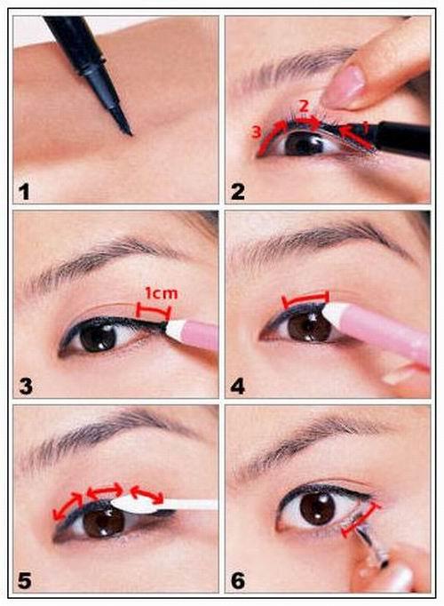 眼线怎么画好看图解