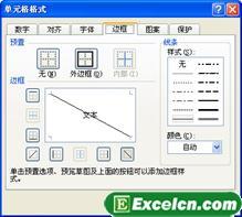 在excel中制作斜线表头的几种方法