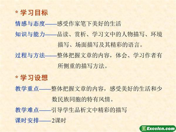 人教版八年级语文下册第16课《云南的歌会》ppt课件2