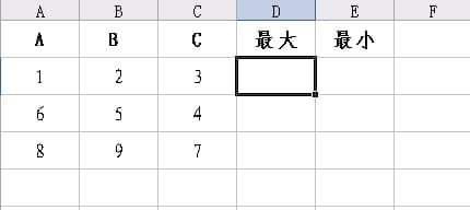 利用excel中MAX和MIN函数比较表格数据大小
